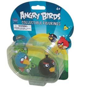 Boneco Angry Birds preto e azul :: Brinquedo Angry Birds Collectible Figurines