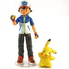 Boneco Ash e Boneco Pokemon Pikachu (aberto) :: Bonecos Pokemon Black & White