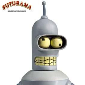 Boneco Bender Futurama (lacrado) Toynami do Brasil