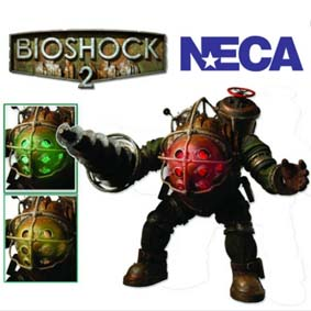 Boneco Bioshock 2 Big Daddy Ultra Deluxe com Led da Neca