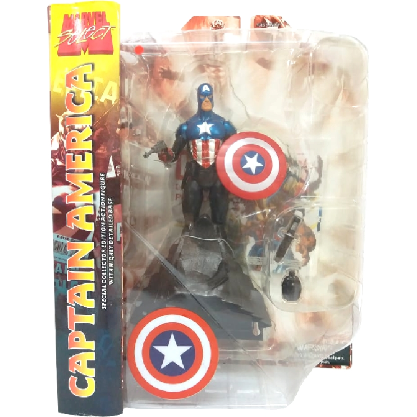 Boneco Capitão América Bonecos Marvel Select Comics Captain America Diamond Select