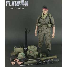 Boneco Charlie Sheen Chris Taylor ( Hot Toys Platoon no Brasil Action Figures )