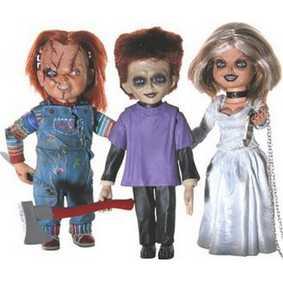 Boneco Chucky com Noiva Tiffany e Glen Filho do Chuck (aberto)