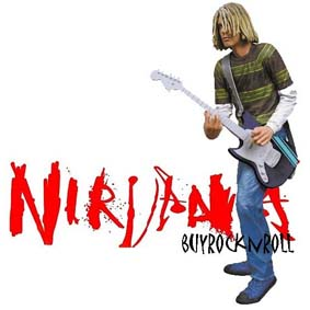 Boneco de Kurt Cobain do Nirvana :: Neca Toys Action Figures Brasil