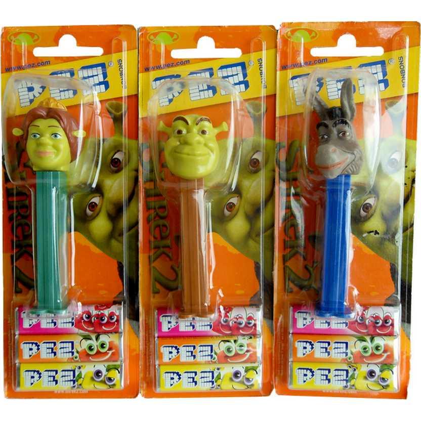 Boneco Dispenser Para Balas Pez Shrek, Fiona e o Burro (filme Shrek 2 - 2004)