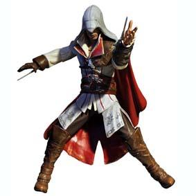 Boneco do Assassins Creed II  2 - Ezio branco (aberto) Neca