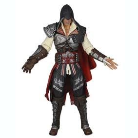 Boneco do Assassins Creed II  2 - Ezio preto (aberto) Neca