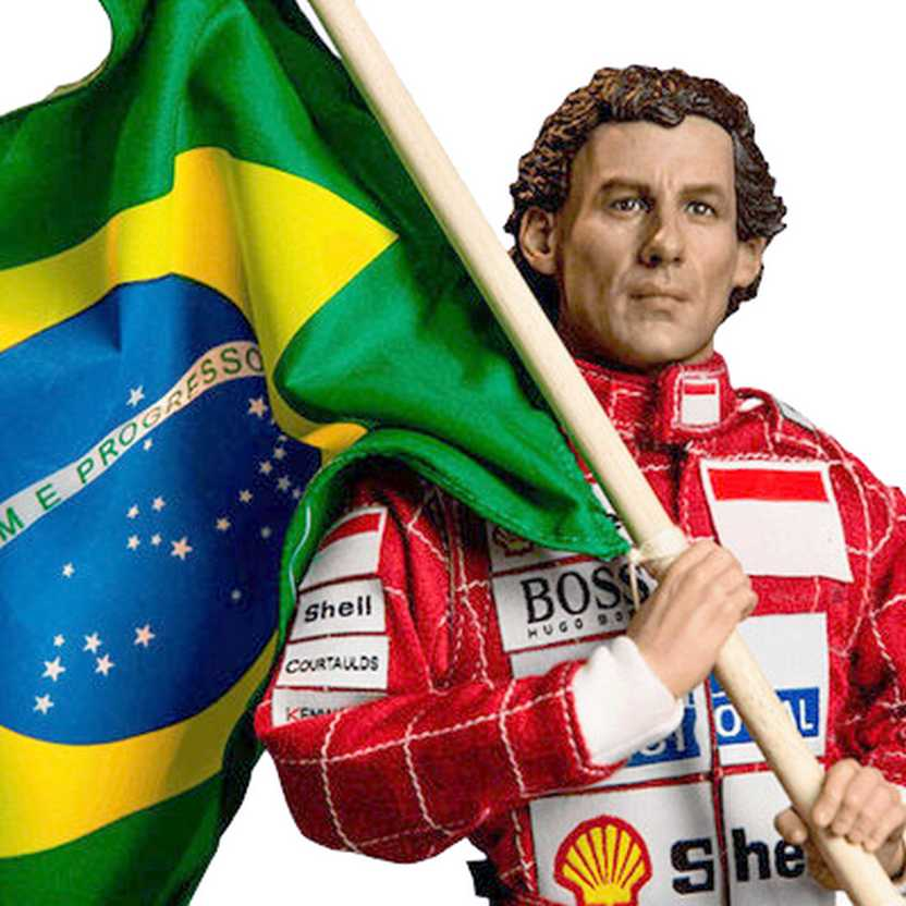 Boneco do Ayrton Senna 1993 Interlagos Live Legend marca Iron Studios estátua escala 1/6