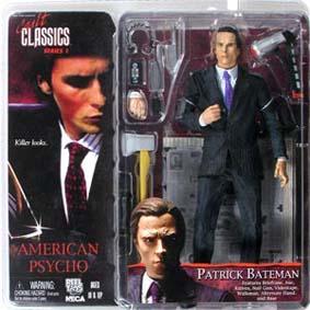 Boneco do Christian Bale Batman (Neca Cult Classics 1) Patrick Bateman