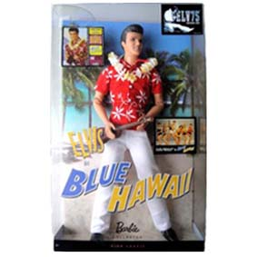 Boneco do Elvis Presley In Blue Hawaii Barbie Collector Pink Label