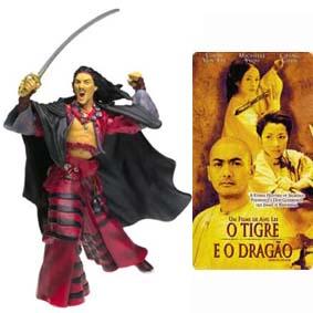 Boneco do filme O Tigre e o Dragão :: Lo Dark Cloud Action Figure (aberto) Chang Chen
