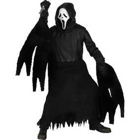 Boneco do filme Pânico 4 Ghostface Scream 4 (aberto)