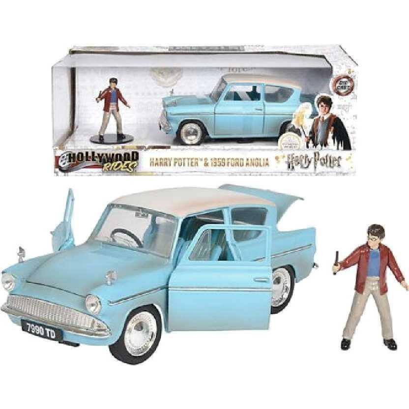Boneco do Harry Potter com 1959 Ford Anglia Hollywood Rides Jada escala 1/24