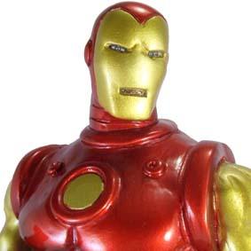 Boneco do Homem de Ferro com pintura métalica ( estátua em resina )