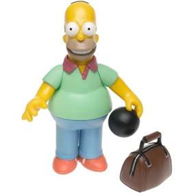 Boneco do Homer Simpsons no Boliche (aberto) Simpsons Action Figure Pin Pal Homer