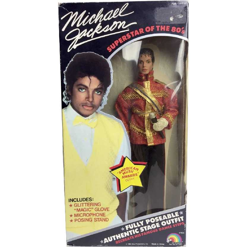 Boneco do Michael Jackson Superstar of the 80s American Music Awards Outfit (raro)