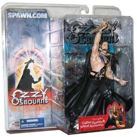 Boneco do Ozzy Osbourne Ozzyman com diorama da Mcfarlane Toys