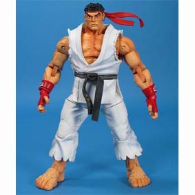 Boneco do Street Fighter IV Ryu (aberto) Neca Action Figures Brasil