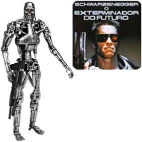 Boneco Exterminador do Futuro 1 Terminator 1 Neca T-800 Endoskeleton Action Figure