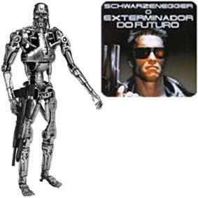 Boneco Exterminador do Futuro 1 Terminator 1 Neca T-800 Endoskeleton Action Figure