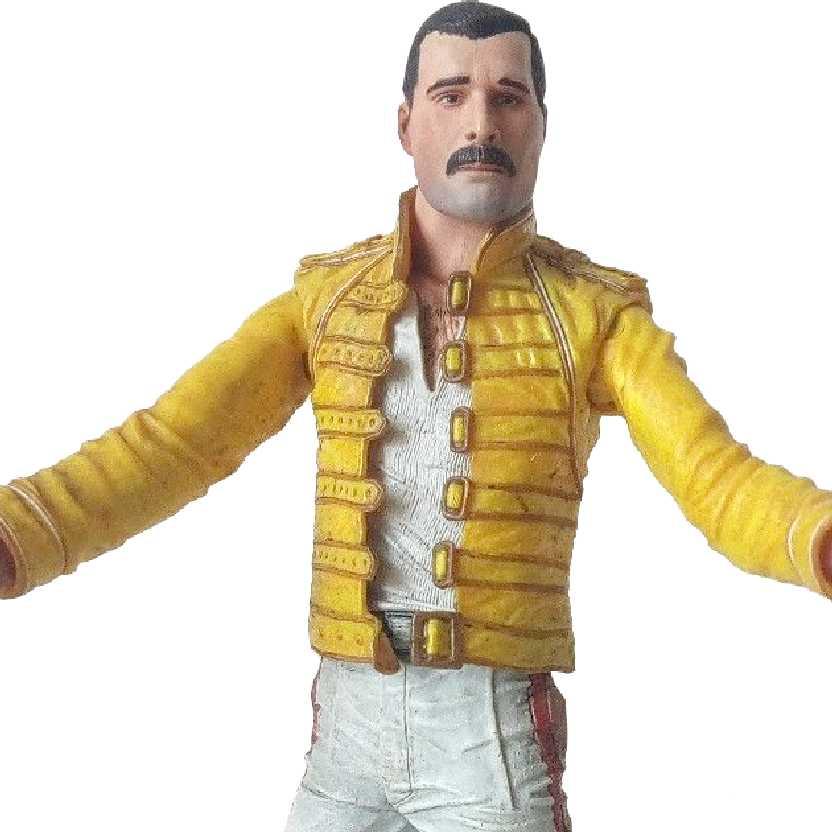 Boneco Freddie Mercury Magic Tour (aberto) Bonecos Neca Toys Brasil