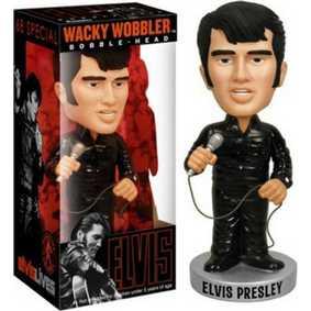Boneco Funko Elvis Presley 1968 Comeback Wacky Wobbler Bobble Head