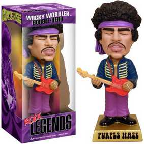 Boneco Funko Jimi Hendrix Purple Haze Rock Legends Series Bobble Head