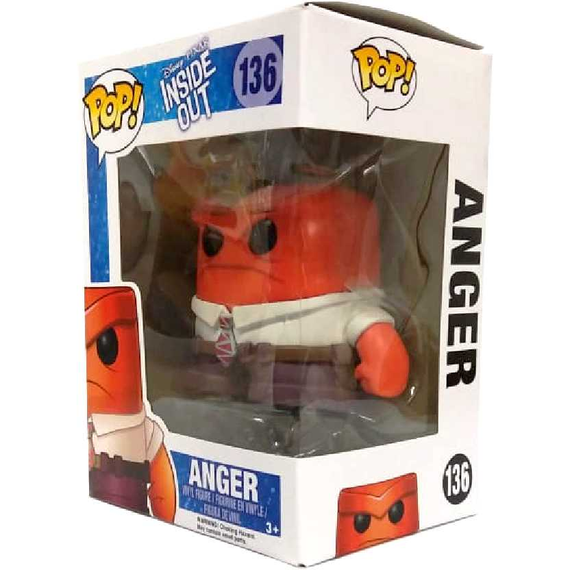 Boneco Funko Pop! DivertidaMente Raiva Disney Inside Out Anger Vinyl figure número 136