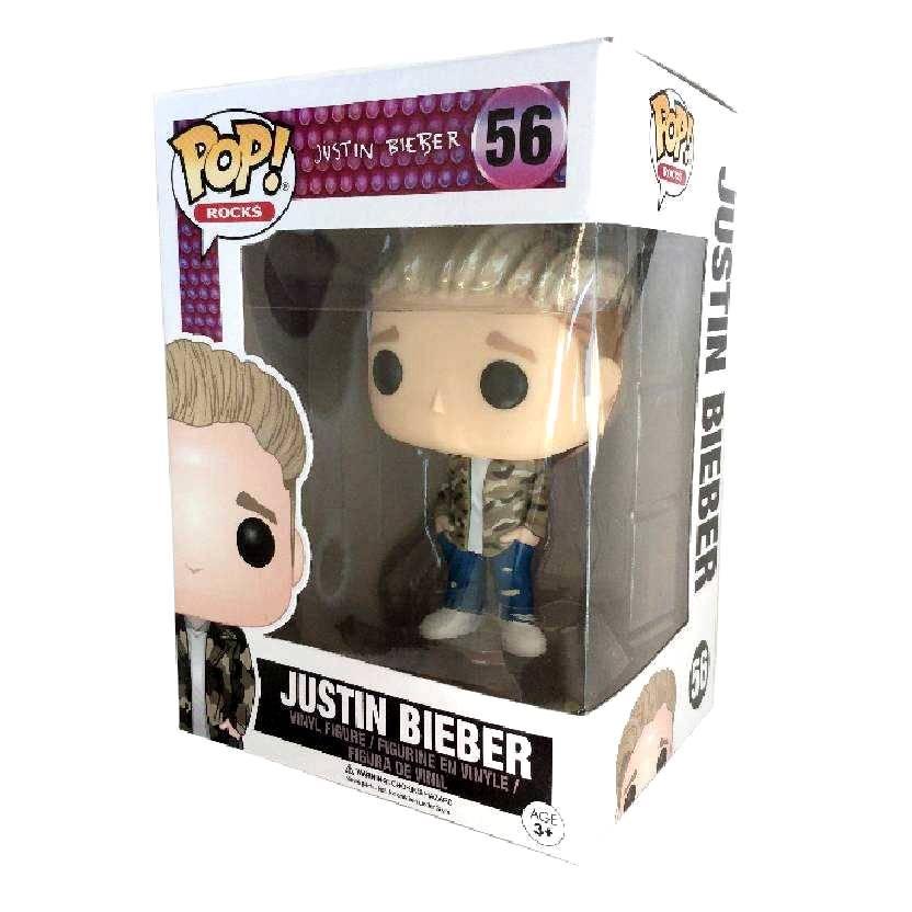 Boneco Funko Pop! Rocks Justin Bieber vinyl figure número 56 Original