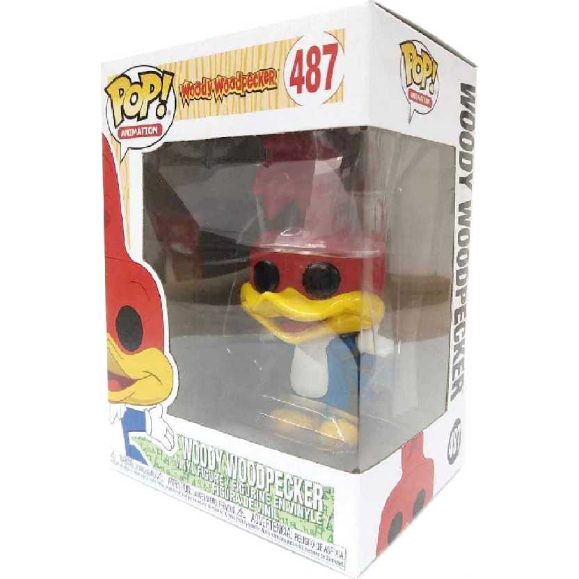Boneco Funko Pop Animation Woody Woodpecker Pica Pau vinil figure número 487