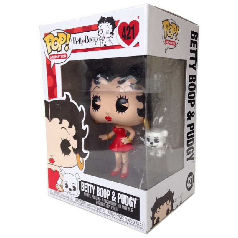 Boneco Funko Pop Betty Boop e seu cachorro Pudgy vinyl figure número 421