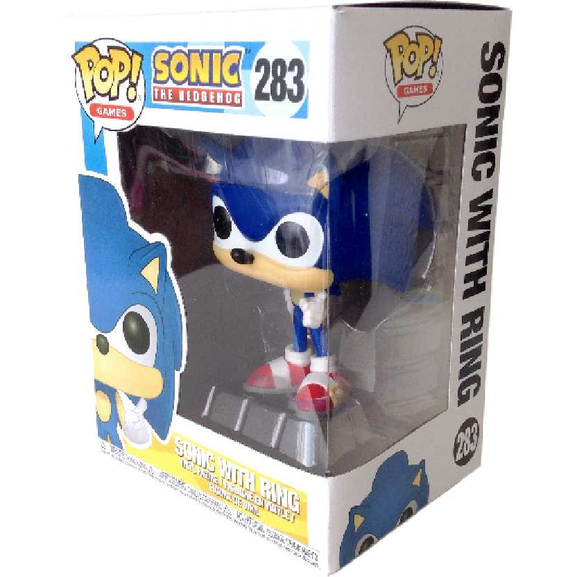 Boneco Funko Pop Games Sonic The Hedgehog vinyl figure número 283 Original