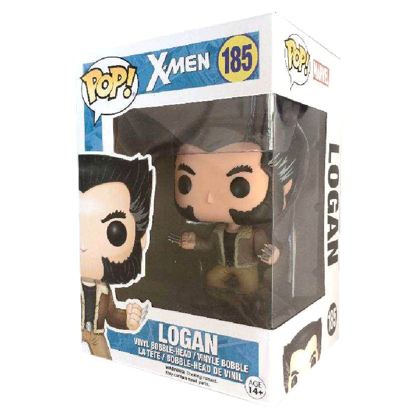 Boneco Funko Pop X-Men Logan Wolverine Marvel vinyl figure número 185 Original