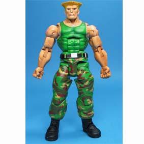 Boneco Guile Street Fighter IV / Bonecos Neca Toys Brasil (aberto)
