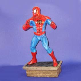 Boneco Homem Aranha grande Estátuas de Super Heróis de Resina