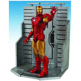 Boneco Homem de Ferro The Avengers Bonecos Marvel Select Diamond Comics - Iron Man