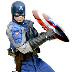 Boneco Hot Toys Capitão América / Hot-Toys Captain America Action Figure