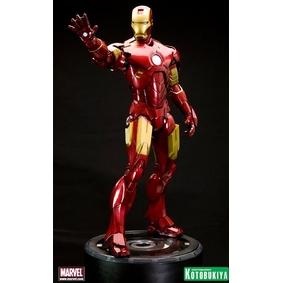 Boneco Iron Man 2 Mark IV 1/6 ARTFX Statue com led (aberto) sem caixa