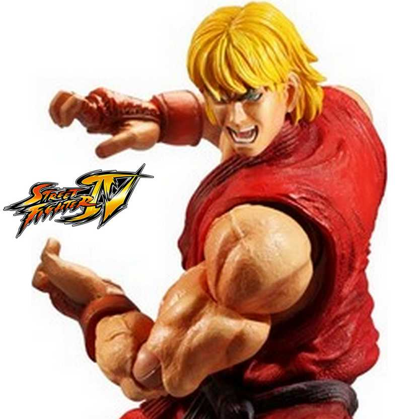 Boneco Ken Super Street Fighter IV Play Arts Kai Square Enix Action Figure