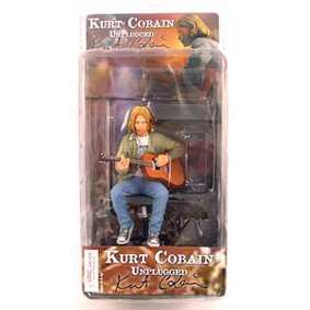Boneco Kurt Cobain Unplugged do Grupo Nirvana ( Neca Toys Figuras de Ação )