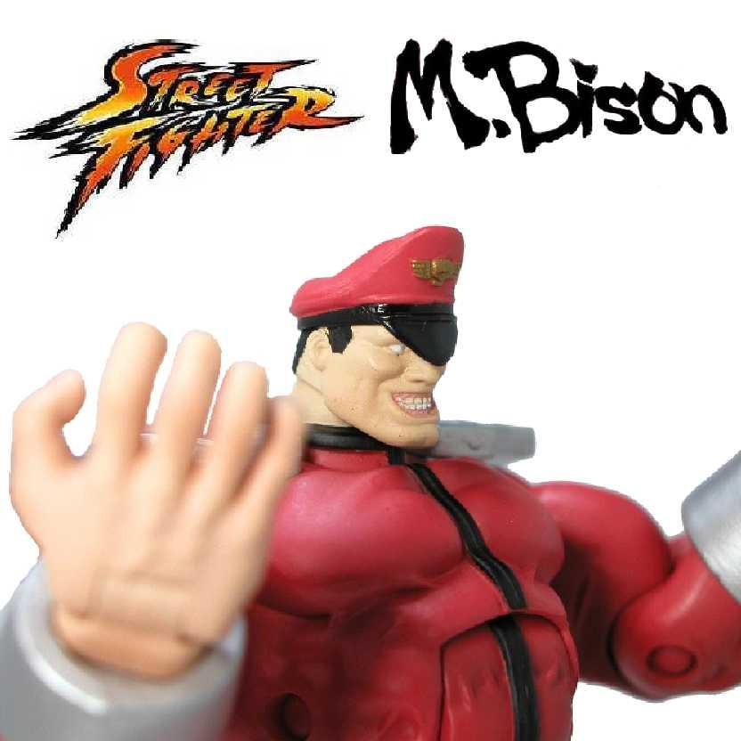 Boneco M. Bison Série 1 Street Fighter da Marca Sota Toys (aberto) RARO