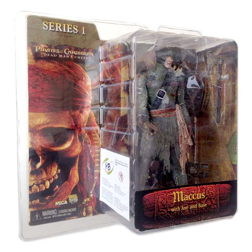 Boneco Maccus / Tubarão (Dead Man Chest) Piratas do Caribe Neca Toys action figures Novo
