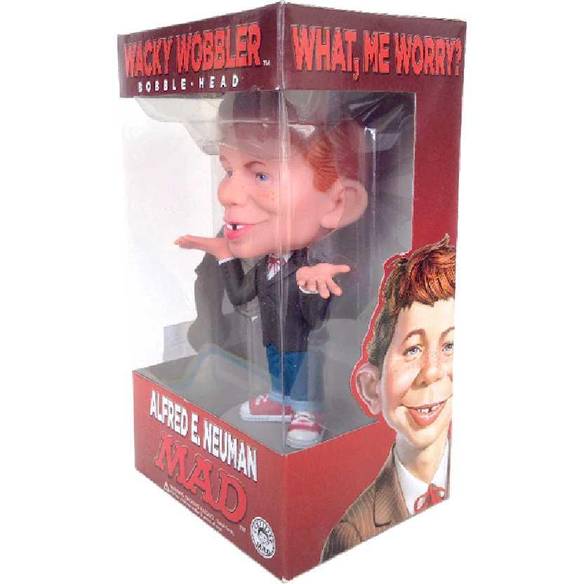 Boneco MAD Alfred E. Neuman Wacky Wobbler Bobblehead balança a cabeça
