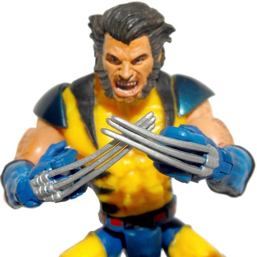 Boneco Marvel Legends Toy Biz - Unmasked Wolverine da caixa X-Men Legends Box Set (aberto)