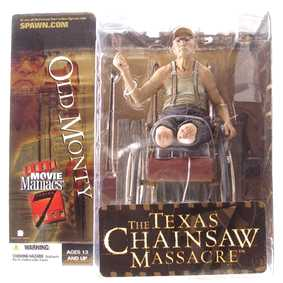 Boneco Massacre da Serra Elétrica Old Monty The Texas Chainsaw Massacre