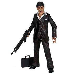 Boneco Mezco Direct Exclusive Tony Montana Scarface (com sangue) Al Pacino