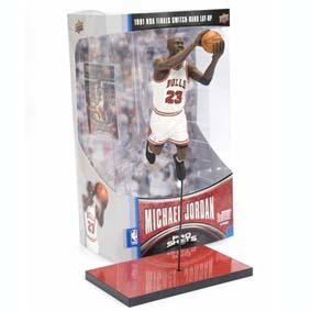 Boneco Michael Jordan na final de 1991 (na caixa)