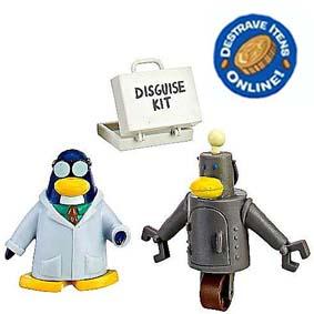 Boneco Mix N Match Club Penguin S9 Gary O Inventor (aberto) com código