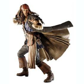 Boneco Piratas do Caribe Jack Sparrow - Johnny Deep (aberto)