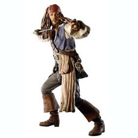 Boneco Piratas do Caribe Jack Sparrow - No Fim do Mundo (aberto)